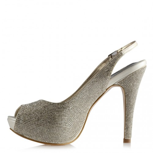 White wedding shoes with...